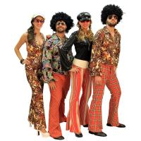 43c689915 Camarim - Aluguel de Fantasias - Anos 70 casal laranja